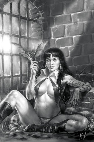 Vampirella #11 (50 Copy Parrillo Virgin B&W Cover)