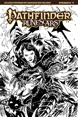 Pathfinder: Runescars #2 (20 Copy Borges B&W Cover)