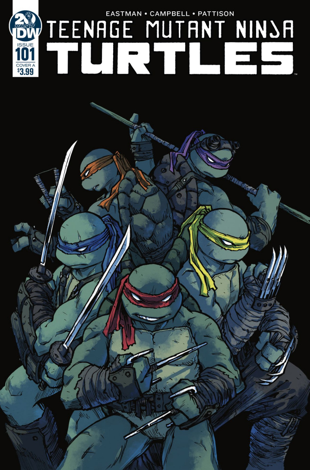 Teenage Mutant Ninja Turtles #101 (Campbell Cover)
