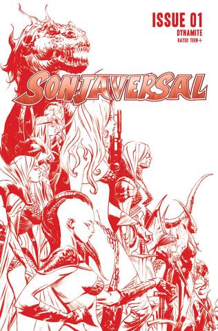Sonjaversal #1 (Lee Crimson Line Art Cover)