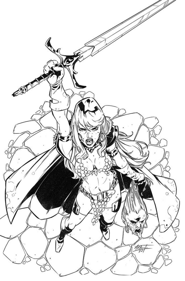 Red Sonja #27 (15 Copy Miracolo B&W Virgin Cover)
