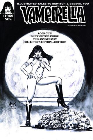 Vampirella #1969 (Rare Hack B&W Cover)