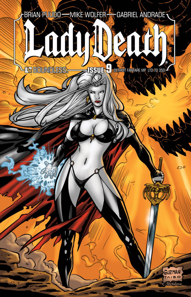 Lady Death #9 (Detroit VIP Cover)