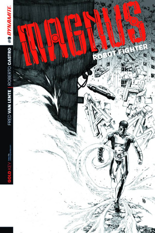 Magnus, Robot Fighter #9 (10 Copy Lau B&W Cover)