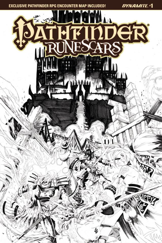 Pathfinder: Runescars #1 (10 Copy Lau B&W Cover)