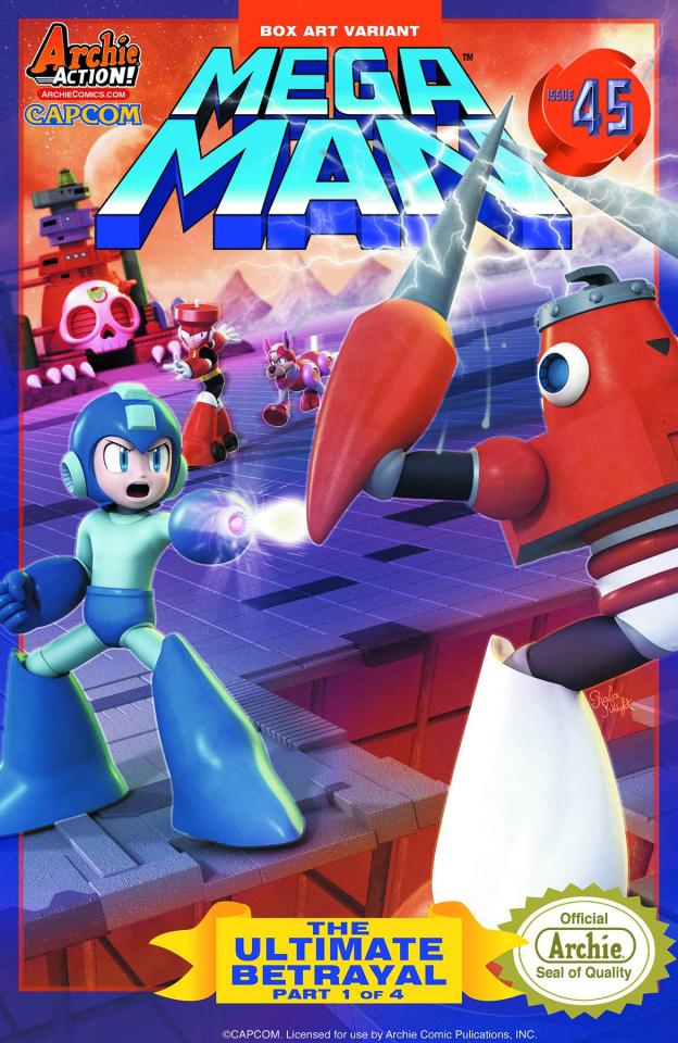 Mega Man #45 (Box Art Cover)