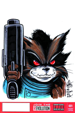 Rocket Raccoon #1 (Haeser Signed & Remarked Cover)