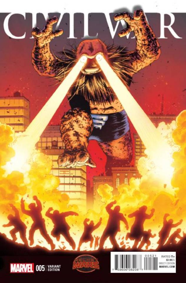 Civil War #5 (Cassaday Kirby Monster Cover)