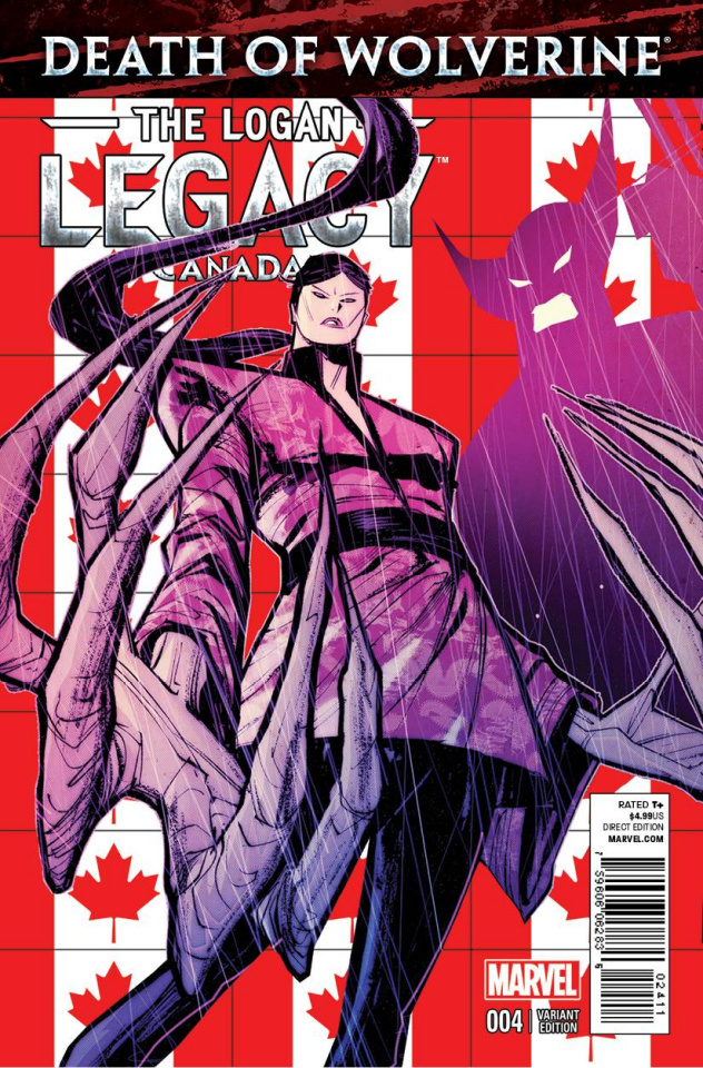 Death of Wolverine: The Logan Legacy #4 (Canada Cover)