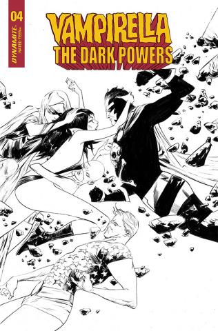 Vampirella: The Dark Powers #4 (40 Copy Lee B&W Cover)