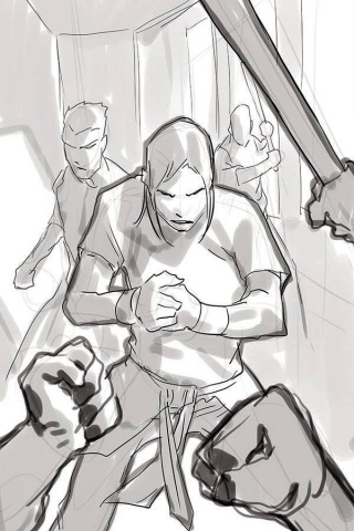 Gung-Ho: Anger #1 (40 Copy Stephen Segovia Line Art Cover)