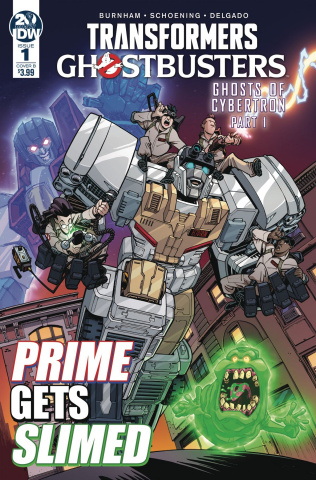 The Transformers / Ghostbusters #1 (Roche Cover)