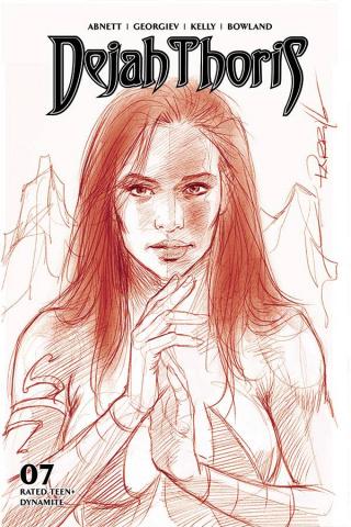 Dejah Thoris #7 (21 Copy Parrillo Tint Virgin Red Cover)