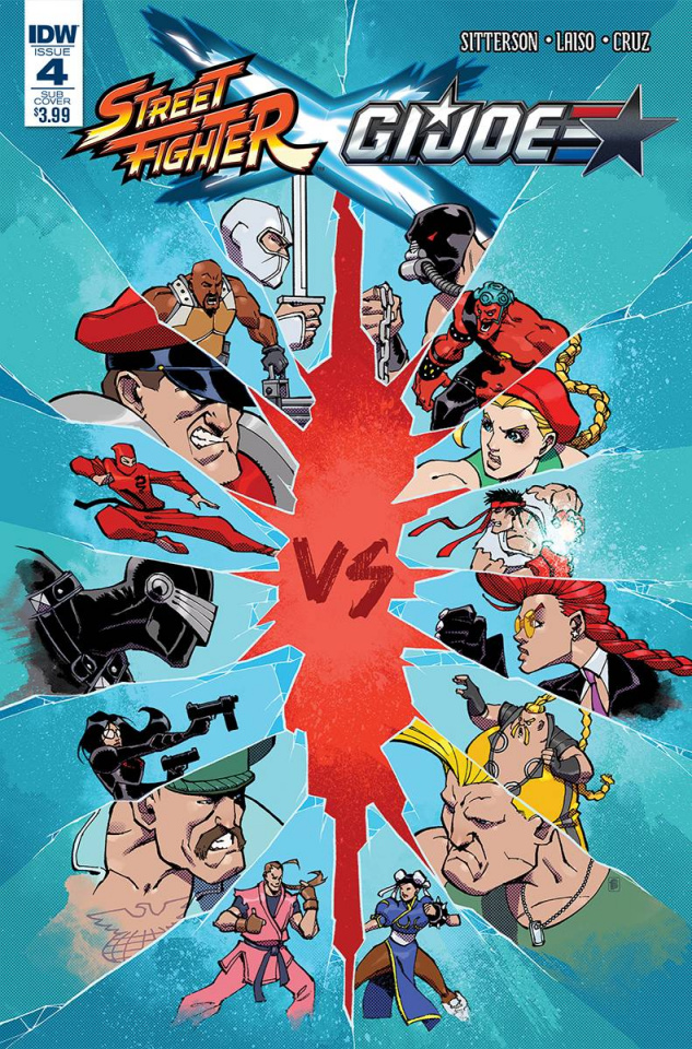 Street Fighter X G.I. Joe #4 (Subscription Cover)