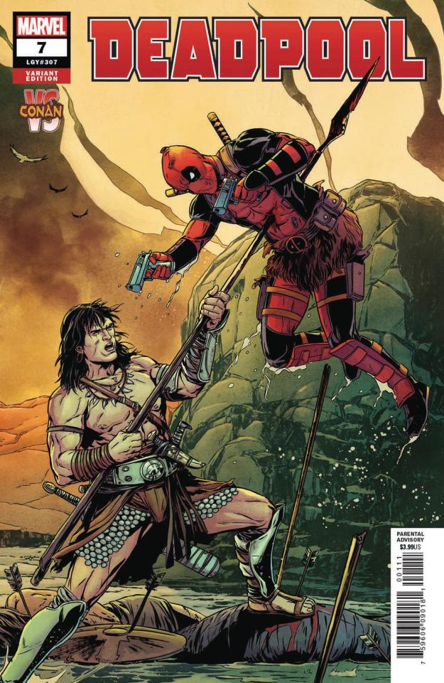 Deadpool #7 (Laming Conan vs. Marvel Cover)