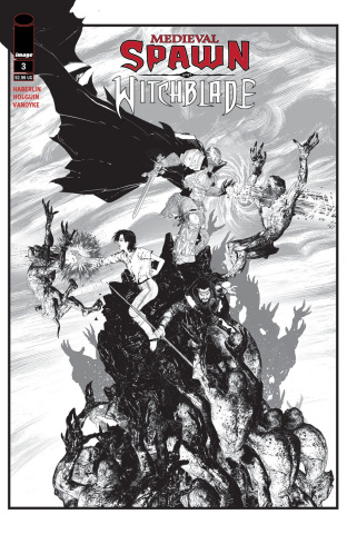 Medieval Spawn and Witchblade #3 (Haberlin B&W Cover)