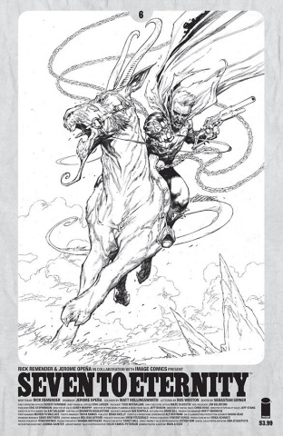 Seven to Eternity #6 (Spawn Month B&W Cover)