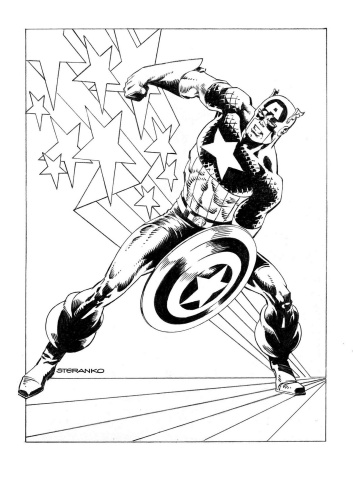 Captain America #1 (Steranko Cover)