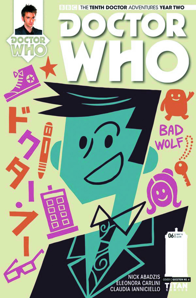 Doctor Who: New Adventures with the Tenth Doctor, Year Two #6 (Question 6 Cover)