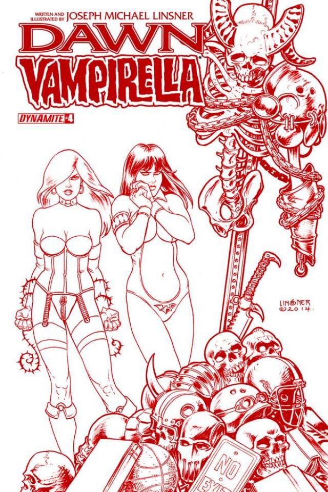 Dawn / Vampirella #4 (25 Copy Linsner Red Cover)