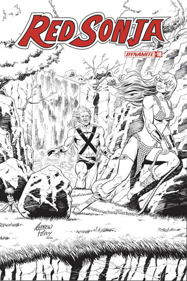 Red Sonja #18 (50 Copy Pepoy Seduction B&W Cover)