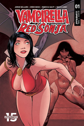 Vampirella / Red Sonja #1 (Moss Then & Now Cover)