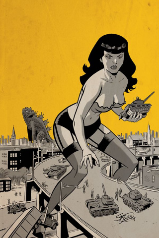 Bettie Page: Unbound #8 (30 Copy Chantler Virgin Cover)
