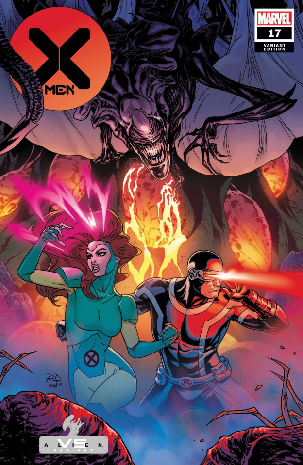 X-Men #17 (Dauterman Marvel vs. Alien Cover)