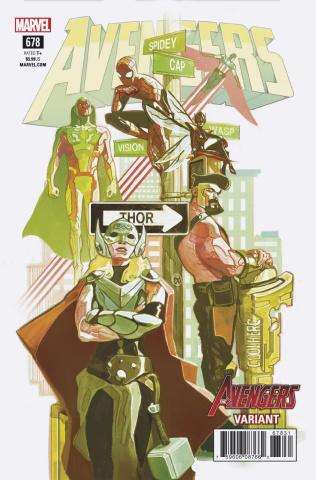 Avengers #678 (Del Mundo Avengers Cover)