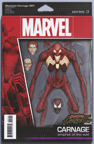 Absolute Carnage #1 (Christopher Action Figure Cover)