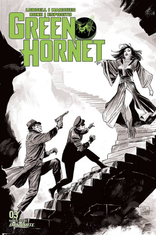 Green Hornet #3 (20 Copy Weeks B&W Cover)