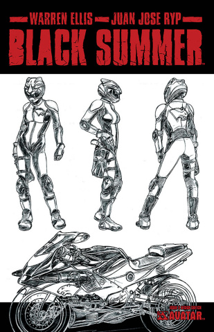 Black Summer #3 (Design Sketch Cover)
