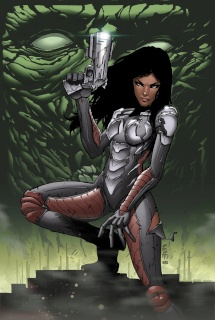 Aliens vs. Zombies #3 (Cafaro Cover)