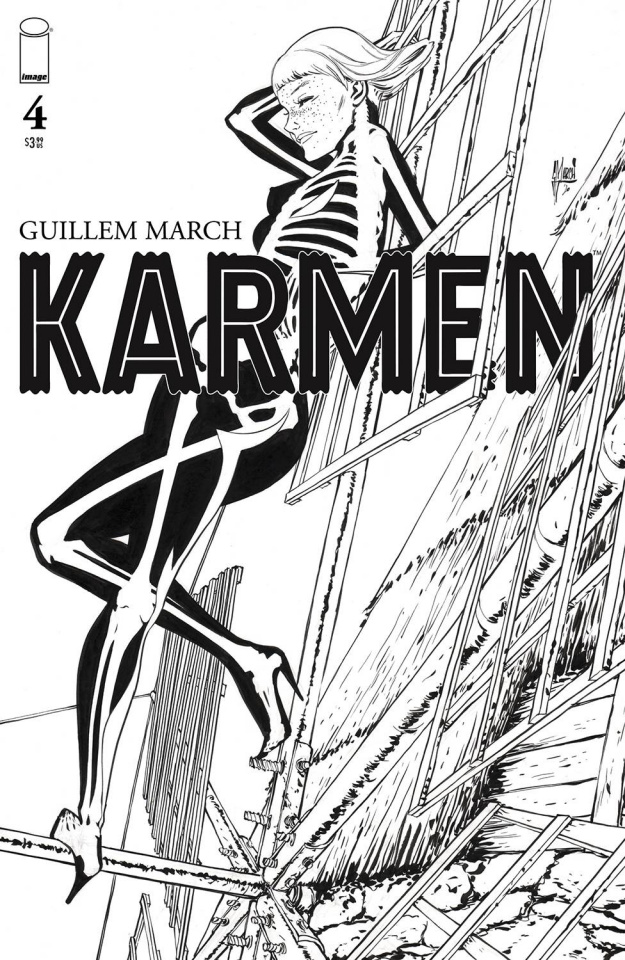 Karmen #4 (25 Copy March B&W Cover)