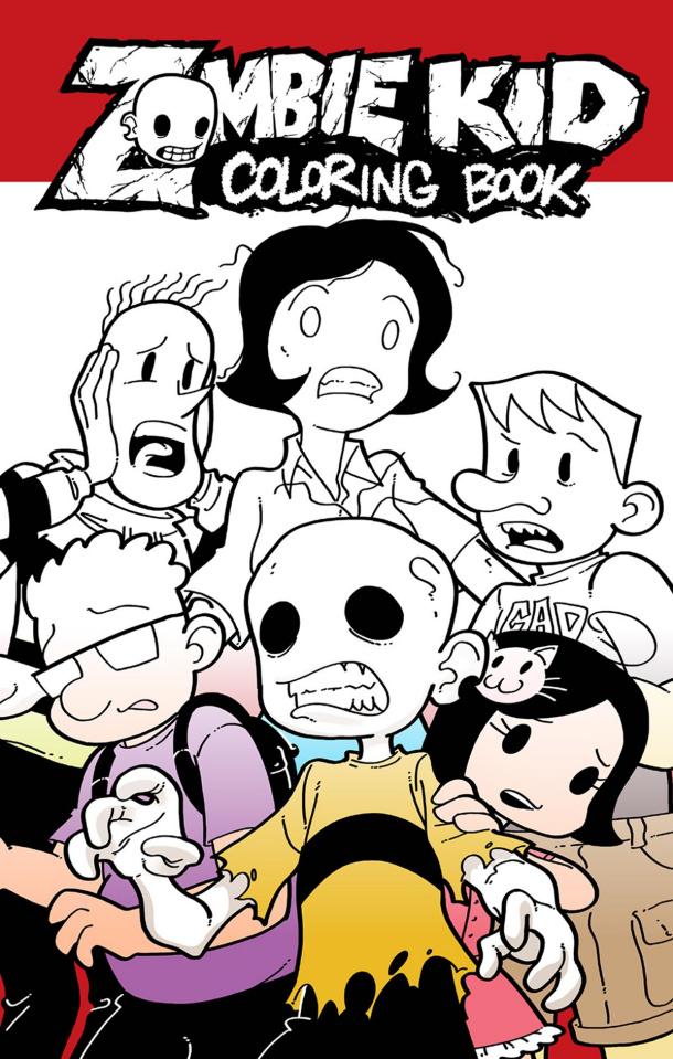 Zombie Kid Diaries Coloring Book Coloring Book