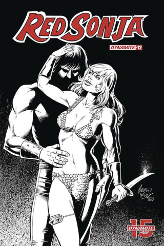 Red Sonja #12 (50 Copy Pepoy Seduction B&W Cover)