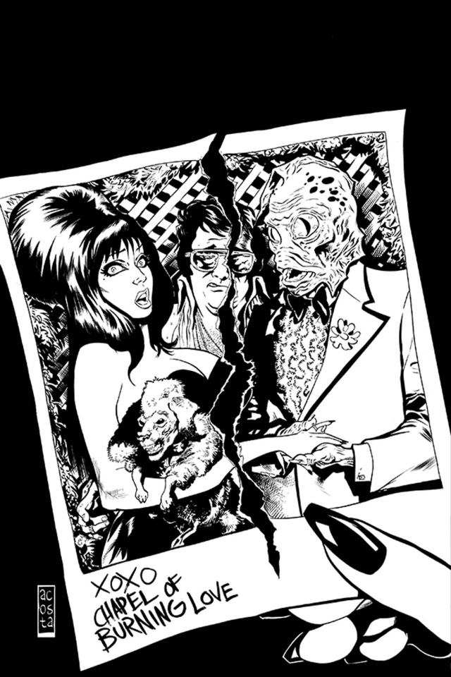 The Shape of Elvira #4 (15 Copy Acosta B&W Virgin Cover)