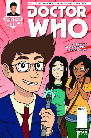 Doctor Who: New Adventures with the Tenth Doctor, Year Two #3 (Rachael Smith Cover)