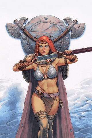Red Sonja #3 (Linsner Virgin Cover)