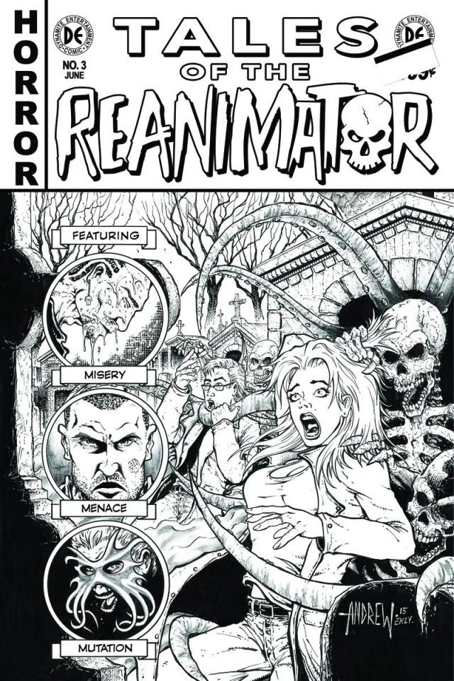 Reanimator #3 (10 Copy Mangum B&W Cover)