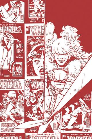 Vampirella / Red Sonja #2 (11 Copy Romero Bellaire B&W Tint Cover)