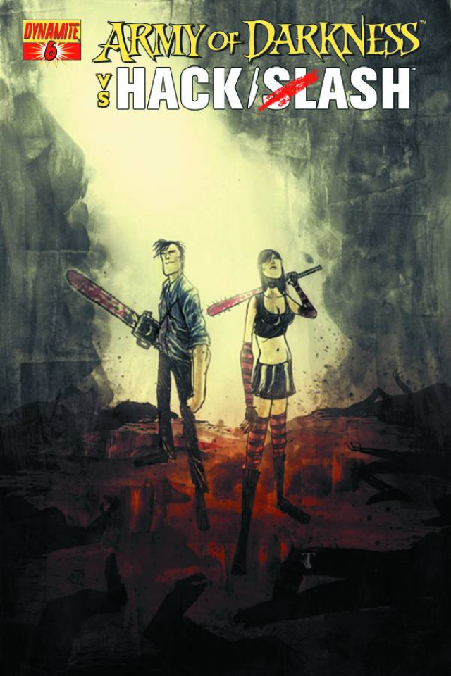 Army of Darkness vs. Hack/Slash #6 (Templesmith Cover)