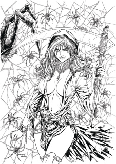 Grimm Tales of Terror #1 (B&W Malsuni Cover)