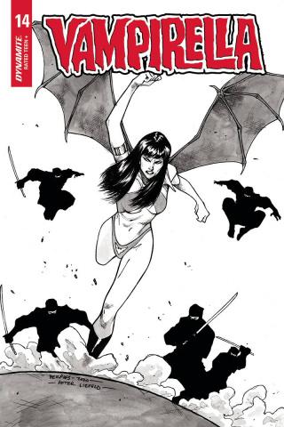 Vampirella #14 (25 Copy Peeples Homage B&W Cover)