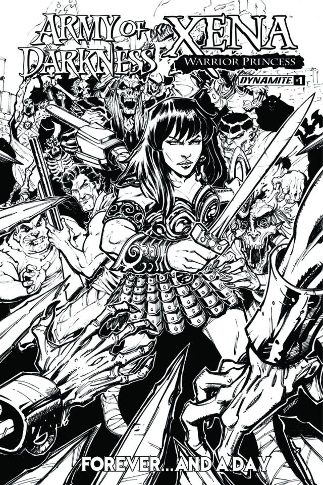 Army of Darkness / Xena: Forever... And a Day #1 (10 Copy B&W Cover)