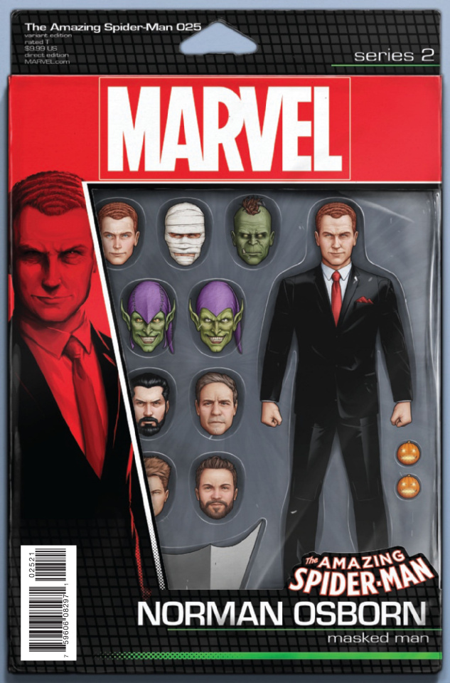 The Amazing Spider-Man #25 (Christopher Action Figure Cover)