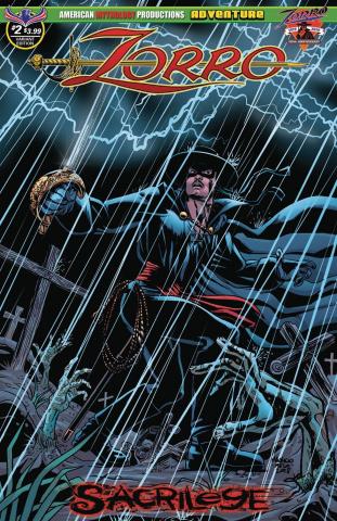 Zorro: Sacrilege #2 (Melo Dead Rising Cover)