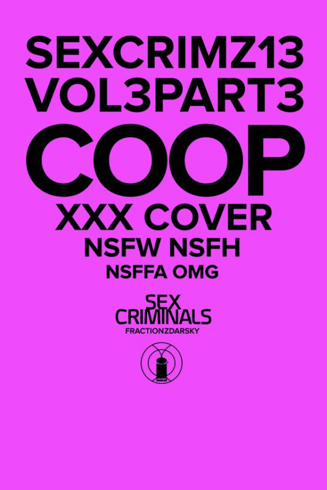 Sex Criminals #13 (Arthur Fonzarellie Cooper XXX Cover)