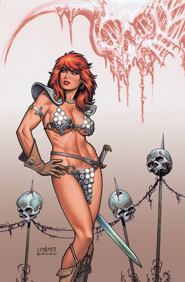 Red Sonja: The Price of Blood #3 (Linsner Virgin Cover)
