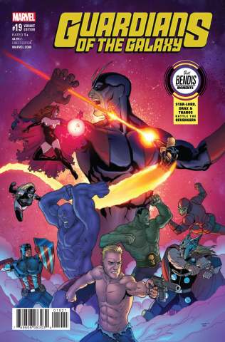 Guardians of the Galaxy #19 (Burrows Best Bendis Moments Cover)